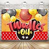 Oh Twodles 2nd Birthday Party Decorations Cute 2nd Mouse Themed Backdrop Banner Background Banner Decorations Party Supplies 71 x 49 inch