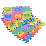 Jopwkuin Tapetes de Espuma Suave entrelazados, Empalmado al Azar para Diferentes Formas, Cómodo y Suave, Alfombrillas de Espuma Que se entrelazan con 36 Piezas Brillantes y Coloridas para niños