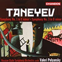 Taneyev: Symphony No. 1 in E minor / Symphony No. 3 in E minor (2007-05-22)