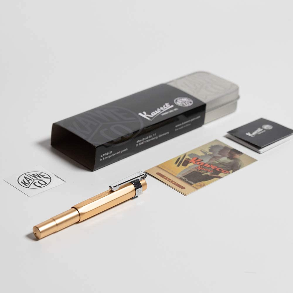 + Pack of 6 Black Ink Fine Nib Kaweco AL Sport Fountain Pen New in Box