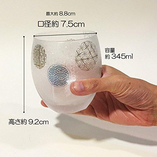 アデリアロックグラスブルー345mlプレミアムニッポンテイスト丸紋オールドグラスペアギフト日本製S6211