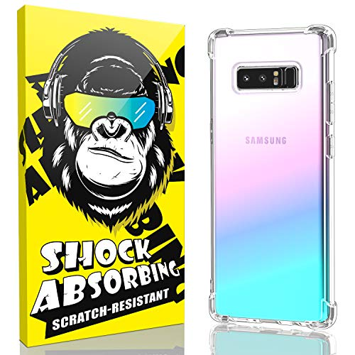Samsung Galaxy Note 8 Case, iCaber Soft & Flexible TPU [Scratch-Resistant],4 Corners Bumpers Protection Designed [Shock-Absorbing] Crystal Clear Case for Samsung Galaxy Note 8 6.3 Inch