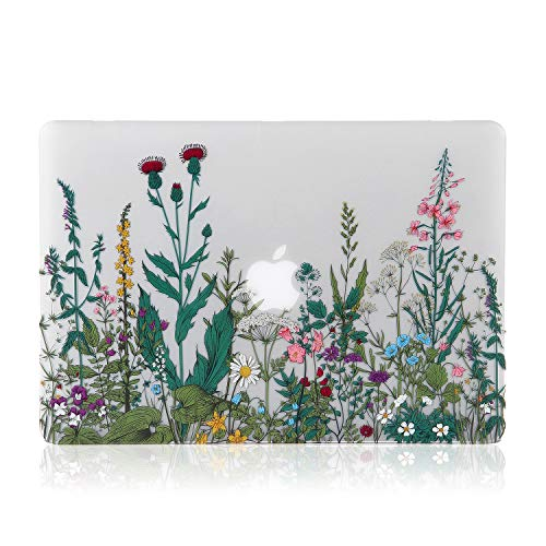 iDonzon Case for MacBook Air 13 inch M1 A2337 A2179 A1932 2020 2019 2018 Release, 3D Effect Matte Clear See Through Hard Cover Compatible Mac Air 13.3 inch with Retina Display Touch ID, Garden Flowers