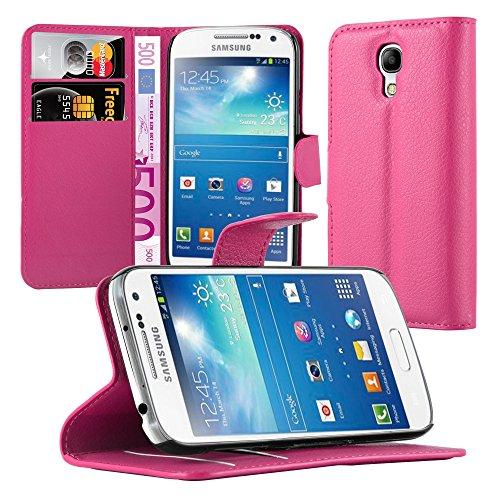 Cadorabo Funda Libro para Samsung Galaxy S4 Mini en Rosa Cereza - Cubierta Proteccíon con Cierre Magnético, Tarjetero y Función de Suporte - Etui Case Cover Carcasa