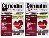 Coricidin HBP Tablets Maximum Strength Flu 20 Tablets (Pack of 2)