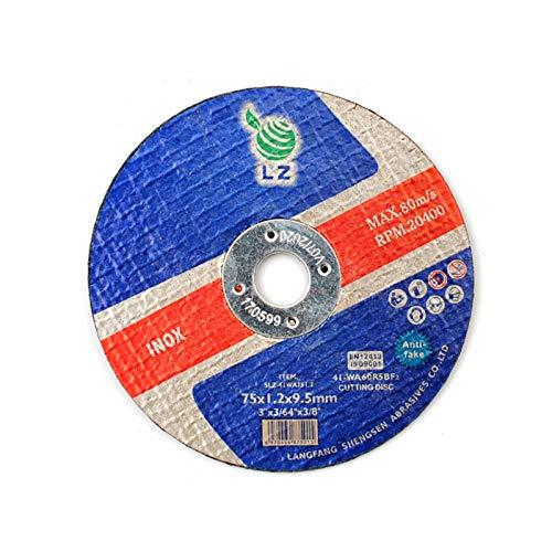 "Disco de Corte Metal 75mm x 1mm x 9.5mm(3\"") - pack de 25, para Herramienta del Aire"