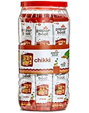 Paper Boat Chikki Jar, Peanut Bar, No Added Preservatives and Colours (50 Pieces, 16g Each)