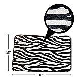 WINOMO Zebra Flanell Deckel WC Deckel Sockel Teppich Bad Matte Set 3pcs (Zebra-Streifen) - 4