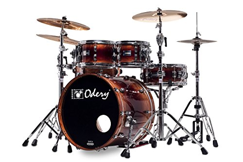 Odery Drums EYE.135-BS-EX(WS) 4 Piece Bubinga/Sapele Eyedentity Shell Pack, Explosion Finish