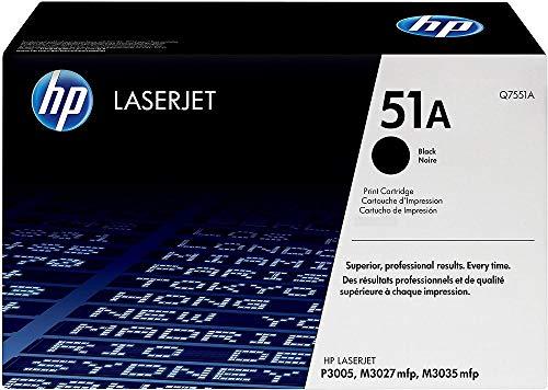 HP 51A - Cartucho de tóner original LaserJet para HP Laserjet series P3005, M3027mfp y M3035mfp, color negro
