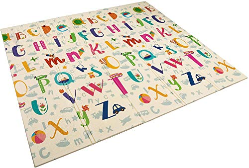 Alfombra infantil plegable Suelo para bebes acolchado 2 caras, impermeable y lavable 180 cm x 160 cm (Modelo 2)