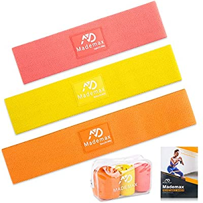 Amazon - Save 50%: Mademax Resistance Bands for Legs and Butt, Fabric Workout Bands, Women…