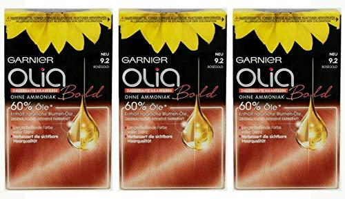 3x Garnier Olia Haar Coloration 9.2 Roségold Ammoniakfrei,3er Pack
