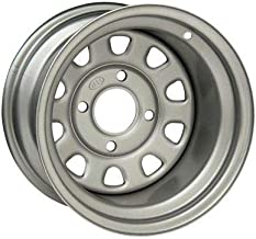 ITP Delta Steel Silver Wheel with Machined Finish (12x7