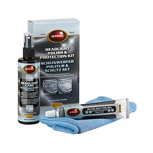Autosol A010102039 - Kit de Pulido y Protección de Faros