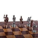 GiftHome (sólo Piezas de ajedrez, Figuras Romanas de Cobre Antiguo, Hechas a Mano, Piezas de ajedrez Frescas King 2.8 (Tabla no incluida)