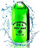 Borsa Impermeabile 25L Sacca Stagna, Zaino Impermeabile Mare, Waterproof Dry Bag Borsa Kayak, Canoa, Rafting, Barca, Nuoto, Sport Zaino Trekking Campeggio Outdoor