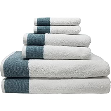 Venice 6 Piece Luxury 100 Percent Turkish Combed Cotton Towel Sets (Dark Turquoise)