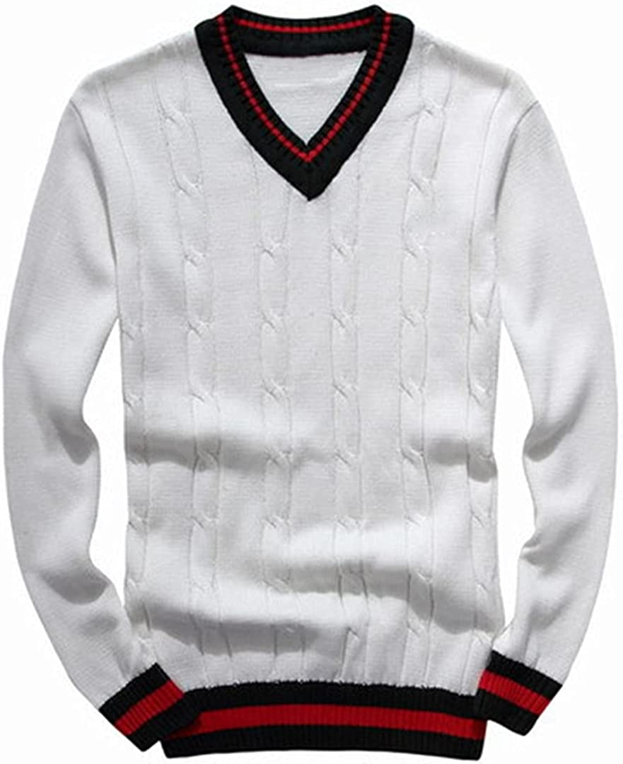Ranking TOP20 GHURFNP Man Cotton V-Neck Sweater Pullover Jersey Autumn Winter OFFicial mail order