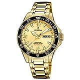 Festina F20479/1 Automatik Automatic Uhr Herrenuhr vergoldet 10 bar Datum Gold