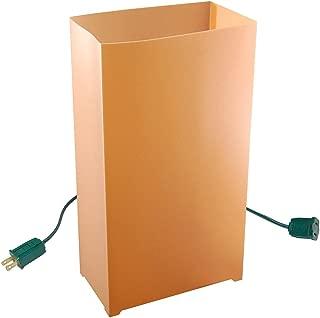 JH Specialties 10- Count Electric Luminaria Kit- Tan/Kraft