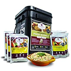 VARIETY PACK - 60 serving survival foodl kit provides a delicious variety of ready-to-eat entrees, individually wrapped for convenience and freshness when you need them most 25 YEAR SHELF LIFE - With a 25-year shelf life, our emergency foods are desi...