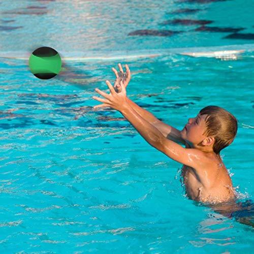 Alomejor Bouncing Water Skim Ball Außenpool Beach Bouncing Sports Game Toy für Freunde der Familie(Schwarz Grün)