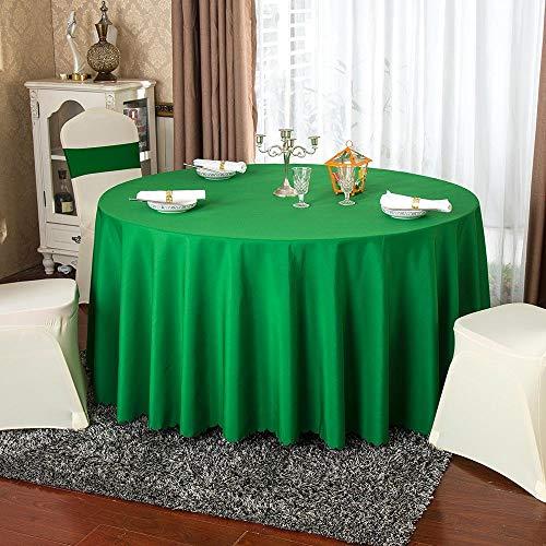 Lotto all'ingrosso Banchetto da hotel in poliestere bianco solido Tovaglia rotonda Ristorante Tovaglia in oro rosso Tovaglia per decorazioni per feste 300 cm