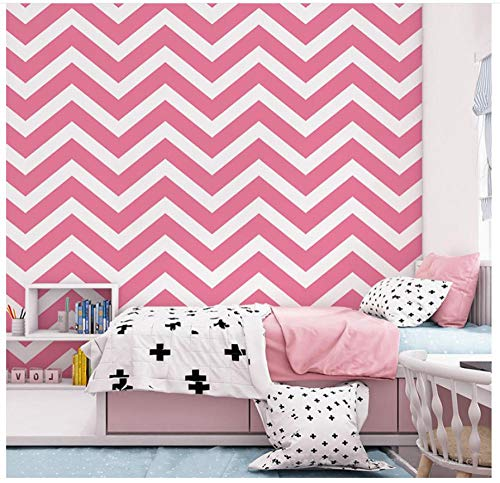 PVC wasserdichte Tapete Wellenmustergeometrie Rose Red Tapete 9.5 * 0.53M für TV Hintergrundwand, Schlafzimmer, Wohnzimmer Dekorativ Peel Stick Wallpaper