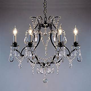 Chandelier Made with Swarovski Crystal! Wrought Iron Crystal Chandelier Chandeliers H19