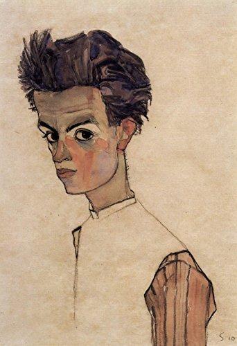 Das Museum Outlet–Selbstporträt von Egon Schiele, gespannte Leinwand Galerie verpackt. 147,3x 198,1cm