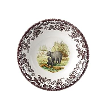 Spode Woodland American Wildlife Black Bear  Cereal Bowl