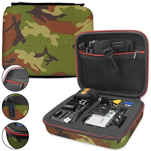 mtb more energy® Schutztasche XL für Rollei Action Cam 430, 425, 420, 415, 410, 400, 372, 350, 333, 300(+), 240, 230, 220 / 7S WiFi, 6S, 5S - Tarnfarben/Camouflage - Koffer Case Stecksystem Modular