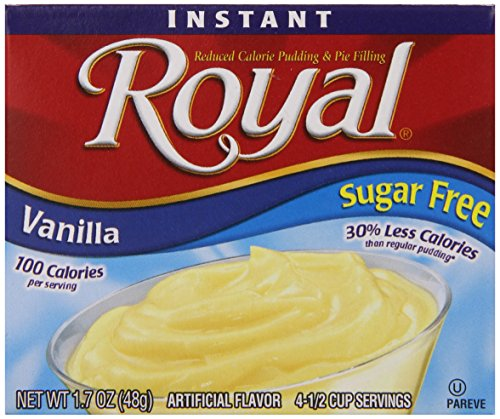 Royal Instant Pudding Dessert Mix, Vanilla, Fat Free and Sugar Free (12 - 1.7 oz Boxes)