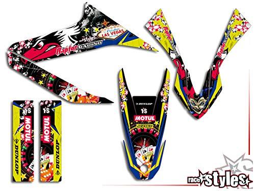 Yamaha WR 125 X neon !!! Premium Factory DEKOR Decals Sticker Aufkleber KIT 09-17