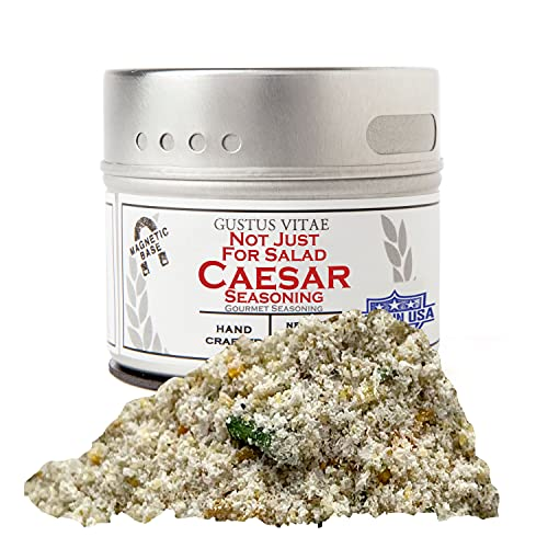 Not Just For Salad Caesar Seasoning | All Natural Spice Blend | Non GMO Rub | Small Batch | 1.6oz | Artisanal Dry Mix | Magnetic Tin | #506