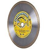 Piranha 7-inch (7') Continuous Rim Wet/Dry Diamond Blade for Cutting Porcelain Tile, Ceramic Tile, Stone & Similar Materials