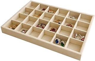 Svea Display Beautiful Creamy Beige Premium Quality Jewelry Organizer Storage Accessory Stackable Trays Removable Rearrang...