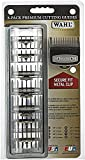 Wahl Professional Premium Black Cutting Guides #3171-500 - 1/8' to 1' - Fits All Full Size Wahl Clippers (Excludes Detachable Blade Clippers) 8 Pack