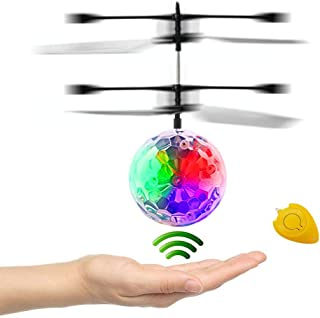 CPSYUB RC Flying Ball Toys, Kids Boy Toys Flying Toys Hand Controlled Drone Heliball Built-in Shining LED Lighting, Kids Toys for Boys Girls Age of 4,5,6,7,8-16 Outdoor and Indoor Use