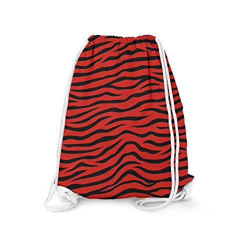 Zebra Print Drawstring Bag gymtas gymtas gymtas