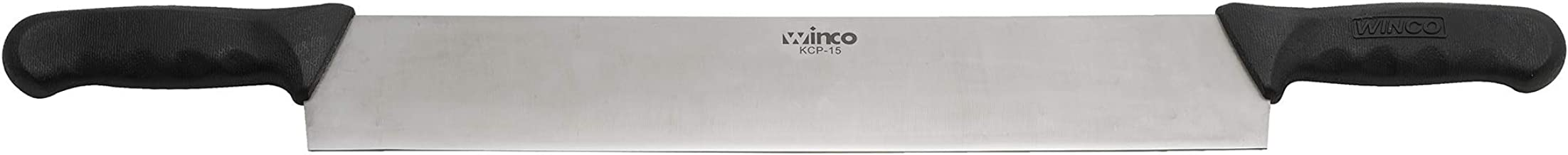 "Winco KCP-15 15"" Cheese Knife With Double Black Polypropylene Handles-KCP-15"