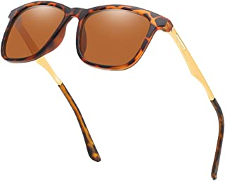 6a2e1fd85b Chic Traveler Polarized Sunglasses Metal Legs Sunglasses for Women or Men  Polarized Square Frame