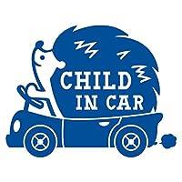 imoninn CHILD in car ステッカー 【パッケージ版】 No.37 ハリネズミさん (青色)