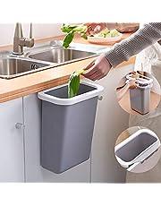 Yibaision キッチン ぶら下げ ゴミ箱 ポリ袋ホルダー付き 5L大容量 キッチンキャビネットドア壁掛け ダストボックス 蓋なし シンプル つり下げゴミ箱 収納バケツ リビングルーム トイレ 浴室にも大活躍 丈夫なプラスチック製