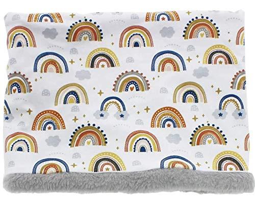beybi Braga polar cuello 100% punto algodón con forro en interior. Suaves comodas y calentitas para niños (arco iris dorado)