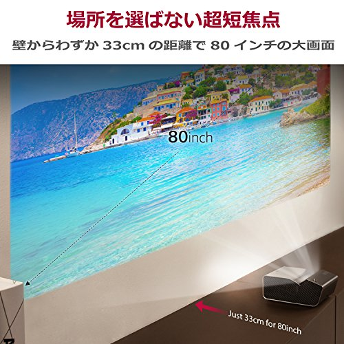 LGPH450UG超短焦点バッテリー内蔵LEDプロジェクター(寿命約30,000時間/HD/450lm/1.1kg)