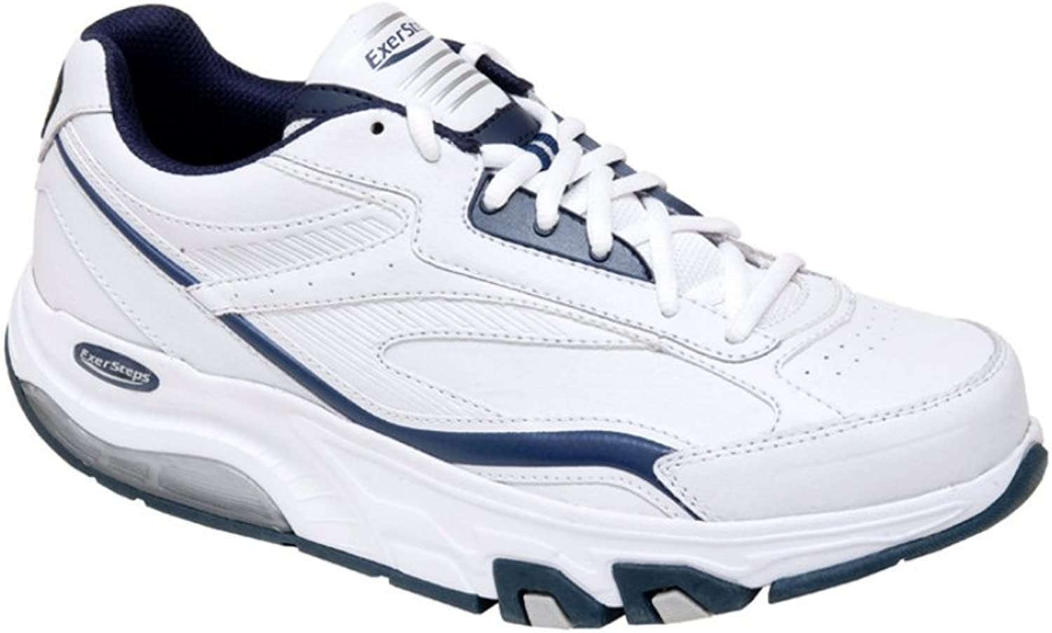 Exersteps Men's Whirlwind White Sneakers