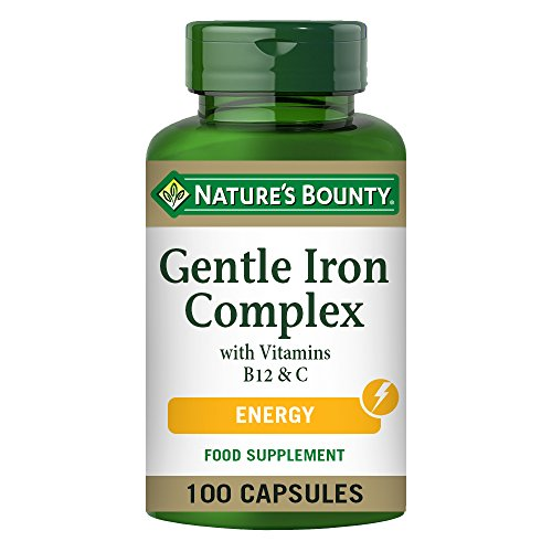 Nature's Bounty Gentle Iron Complex with Vitamins B12 and C Capsules - Pack of 100