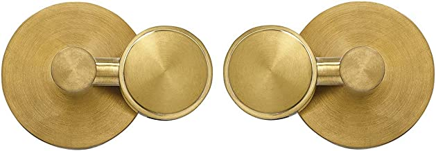 Round Brushed Gold Pivot Mirror Hardware Tilting Anchors for Mirror or Picture Glass or Plexiglass